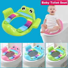 Portable Baby Toilet Seat Pads Soft Handle Frog Cushion Trainer Potty Training