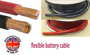 Battery, Starter Cable, Auto Marine 16mm²/110amp (5AWG) MADE IN THE UK BAT110