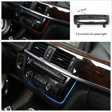 Blue & Orange LED Car AC Panel Trim Dash Console Decor Light For BWM F30 F32 F35