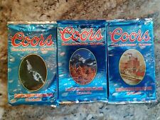 Coors Beer Collectors Cards 3 Unopened Packs 1995