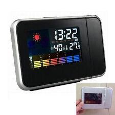 réveil-radio LED Projecteur ^ radio-réveil avec température interne