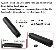 Field Sport .223 Slip on Fake Shroud Can 1/2x28 Threaded with Washer