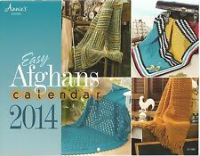 Easy Afghans Calendar 2014 Crochet Instruction Patterns Annie's Attic NEW