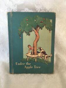 Vintage 1950s Ginn Basic School Reader UNDER APPLE TREE Book Children Stories