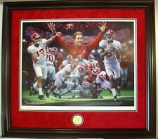 "Alabama football 2017 NC ""Second & 26"" framed LE print by Daniel Moore"