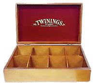 Twinings Cofanetto scatola Regalo Box in Legno Tè Tea porta bustine 8 Scomparti
