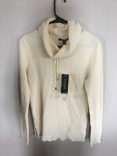 Lauren Ralph Lauren Longsleeve Cowl Neck Beige Medium Sweater
