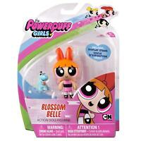 POWERPUFF GIRLS ACTION FIGURE MAYOR BUBBLES BUTTERCUP BLOSSOM WITH PET DINOSAUR