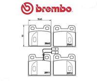 P23020 Kit pastiglie freno, Freno a disco (MARCA-BREMBO)