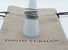 David Yurman Ring Crossover Wide Ring with Pave Diamonds Size 7 Authentic