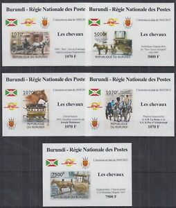 L838. Burundi - MNH - Transport - Carriages - Deluxe - Imperf