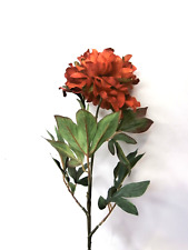 Artificial Burnt Orange Chinese Peony Stem Artificial Flowers Artificial Leaves