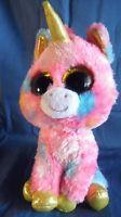 *1807a*  TY Beanie Boos Fantasia the Unicorn - sparkling orange eyes - plush