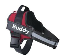 Personalised Dog Harness Reflective Breathable Adjustable Name Phone 8 Colours