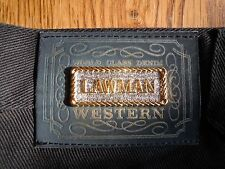 """**Vintage New Black Lawman Jeans NWOT Very Classy and Sharp!**  W 27""""  L 33"""""""