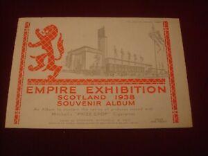 CIGARETTE CARDS -STEPHEN MITCHELL ALBUM (EMPTY) EMPIRE EXHIBITION SCOTTLAND 1938