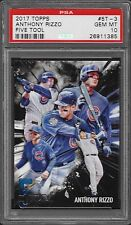 2017 Topps Five 5 Tool # 5T-3 ANTHONY RIZZO Gem Mint PSA 10 CHICAGO CUBS