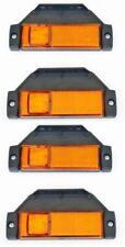 4x LED Seite Umriss orange Marker Lichter LKW Anhänger Krone Kipper Bus