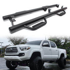Hoop Style Drop Step Nerf Bars for 2005-2018 Toyota Tacoma Double Cab & Crew Cab