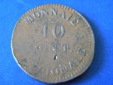 10 CENTIMES - MONNAIE OBSIDIONALE DU SIEGE D'ANVERS. 1814.