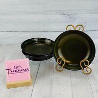 Vintage Franciscan MADEIRA Green Band Floral Earthenware Soup Cereal Bowl Set 3