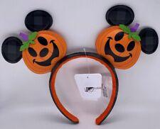 Disney Parks Halloween Jack O Lantern Pumpkin Mickey Mouse Ears Headband 2021