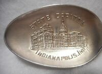Sterling Souvenir Spoon Indianapolis, Indiana State House, ca 1900