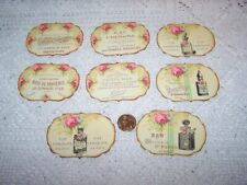 Perfume~Soap~Label~Stickers~Vintage Inspired~Shabby Chic~Linen Cardstock