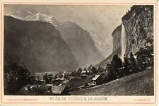 Charnaux Frères, Suisse, Le Staubach et la Jungfrau, ca.1880, vintage albumen pr