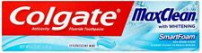 Colgate MaxClean SmartFoam with Whitening Toothpaste, Effervescent Mint 6 oz