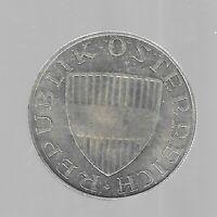 10 Schilling Österreich 1972 Silber in unzirkuliert