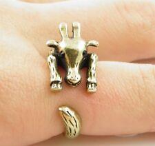 Animal Wrap Ring Gold Giraffe Adjustable Size 6 Ring