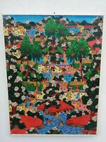 Bali Indonesia Sayan Ubud Oil on Canvas 35 3/8x27 5/8in 1980s Balinese