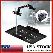 Universal Car Storage Battery Holder Stabilizer Tray + Hold Down Clamp Kit USA