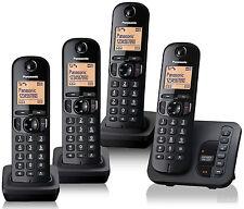 Panasonic KX-TGC224EB Quad Pack DECT Cordless Phone Telephone with Call Blocking