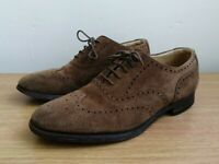 LOAKE 202DS BROWN, SUEDE BROGUES SHOES MADE IN ENGLAND UK SIZE 6.5