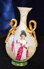 """BAWO & DOTTER ELITE WORKS LIMOGES France Bone China Handpained LADY 12 1/2"""" Vase"""