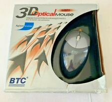 NEW BTC M871 PS2 3D-OPTICAL MOUSE Wired Scroll Agilent enabled PS/2