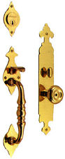 Baldwin Plymouth 6572 003 Entr Polished Brass Mortise Handleset Trim Knob