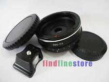 built in aperture Canon EOS EF Lens to Fujifilm FX X tripod mount adapter + CAPS