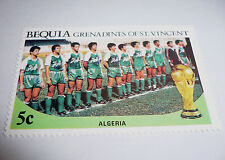 1986 FIFA World Cup Football MEXICO Bequia St. Vincent Grenadines Stamp ALGERIA