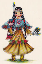 Counted Cross Stitch Pattern Chart Graph - Doll Native American Indian