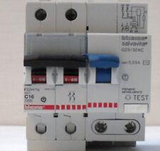 INTERRUTTORE MAGNETOTERMICO DIFFERENZIALE-BTICINO F82H/16-2X16 A-10KA-400V-USATO