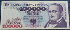 # Polen Banknot 100  000 zł - seria AE  z 1993  roku UNC - od 59,99 zl #
