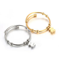 Stainless Steel Simple Women Bangle Open Fashion Bear Gold-lated Bracelet