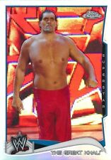 #68 THE GREAT KHALI 2014 Topps Chrome WWE REFRACTOR