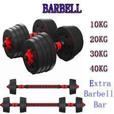 Adjustable Dumbbell Set Weight Dumbbells Barbell Exercise Fitness 10/20/30/40KG