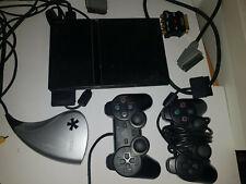 Sony Playstation 2 Slim schwarz mit 2 Controllern und Dazzle Video Grabber