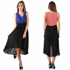 V-Neck Sleeveless Dresses for Women with Pleated