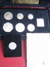 Isle of Man 1978 Silver BUNC 7 coin collection  set 1/2 Penny - £1 Pound COA Box